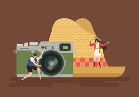 Reisende Konzept-Vektor-flache Illustration