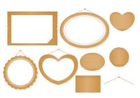 Holz und Lace Signs und Banner Vector Pack