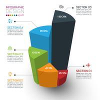 Färgglada isometriska cylindrar av infographics.
