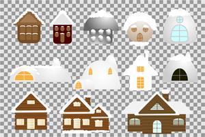 Schneehaus-Sammlung vektor