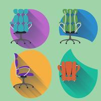 Vierrichtungsstuhl mit flachem Design vektor
