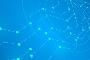Digital-Kreislinie Blauer Hintergrund vektor