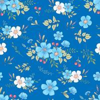 Nahtloses Muster der wilden Blumen. Handzeichnung Vektor-Illustration