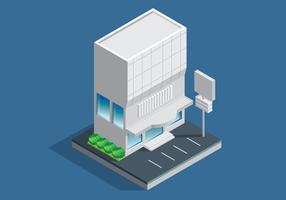 Bürogebäude Isometrisch vektor