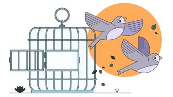 Freie Vögel Vektor
