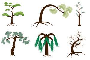 Baum-Sammlungs-Weiß-Hintergrund vektor