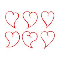Hand gezeichnete Herz-Symbol vektor
