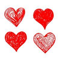 Hand gezeichnetes Herzikonenzeichen