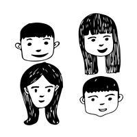 Människor möter tecknad ikon design