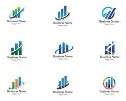 Finanzlogo und Symbolvektorkonzept vektor