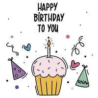 Alles Gute zum Geburtstag Karte vektor