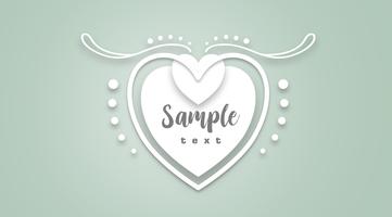 Die weiße Herz-Vektor-Illustration schnitt SVG-Datei. vektor