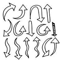 Handtecknad hjärta ikon tecken