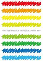 Satz bunte Zeichenstiftgestaltungselemente lokalisiert auf einem weißen Hintergrund. vektor