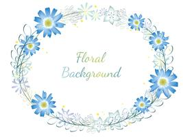 Aquarell Blumenrahmen. vektor