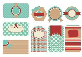Retro Tags und Label Vector Pack