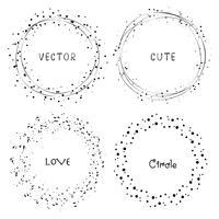 Samling av dekorativa runda ramar. Vektor illustration.