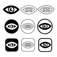 Ange tecken på ögonikonen