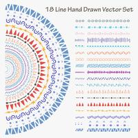 18 Linie Hand gezeichneter Vektorsatz. Handgemachte Vektor-Illustration. vektor