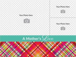 Plaid Mutter Tageskarte Vektor Vorlage
