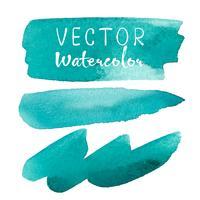 Satz der Aquarellbürste auf weißem Hintergrund. Vektor-illustration vektor