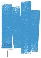 Paint roller abstrakt bakgrund isolerad på en vit bakgrund. vektor