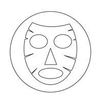 Ansiktsmaskikon vektor
