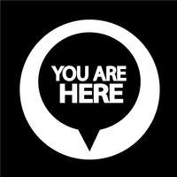 Sie sind hier, Symbol