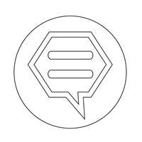 pratar bubbla chatt ikon