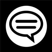 Sprechblasen-Chat-Symbol vektor