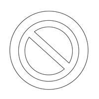 Stoppschild-Symbol vektor