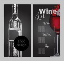 Vektor design för vinlista.
