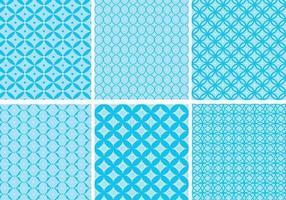 Cirkulär Blå Mönster Vector Pack
