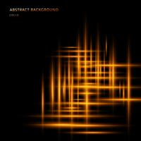 Abstrakte gelbe oder orange Lichtlinie glühende Neonbewegung auf schwarzem Hintergrund mit Raum Ihr Text. Laserstrahlen der Beleuchtungsbewegung.