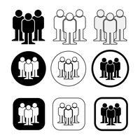 Ange tecken på Människors ikon