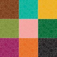 kontur cirklar vektor mönster
