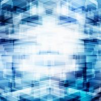 Abstrakt virtuell teknik 3D futuristisk geometrisk överlappning på blå bakgrund med belysning. Digital stort dataperspektiv. Bygga röntgensynet.