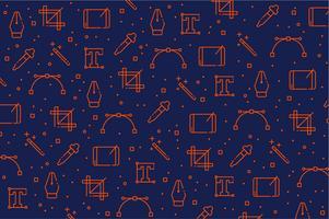 Grafikdesigner bearbeitet Ikonenmusterhintergrund