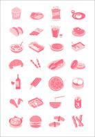 Mat och dryck illustration ikoner uppsättning samling