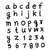 Doodle handtecknad typsnitt design