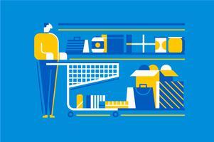 Shopping detaljhandel mönster element illustration