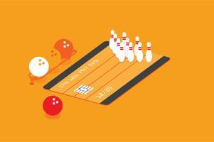 Kreditkortsunderhållsförmåns illustration