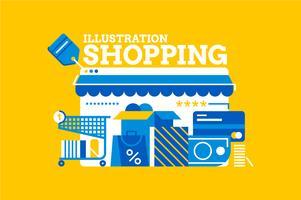 Einkaufsverkaufsmuster-Elementillustration