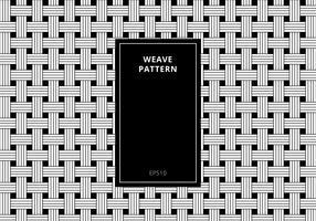 Geometrisk sömlös svartvitt vävmönster bakgrund. Abstrakt randig geometrisk modern stilig textur. vektor