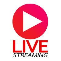 Live Streaming online tecken vektor design