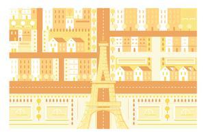 Stadt-Paris-Markstein Eiffelturmillustrationshintergrund vektor