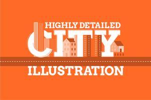 City landmärke typografi illustration bakgrund vektor