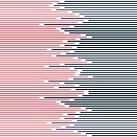 Abstrakte gestreifte Linien Muster dunkelblau und rosa auf minimalem Design der weißen Hintergrundbeschaffenheit.