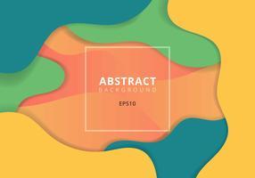Abstrakt vågig geometrisk dynamisk 3D färgrik bakgrund. Trendiga gradientvätskeformer komposition modern koncept. vektor