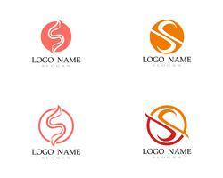 S Logo Vektor Linienvorlage Schriftart